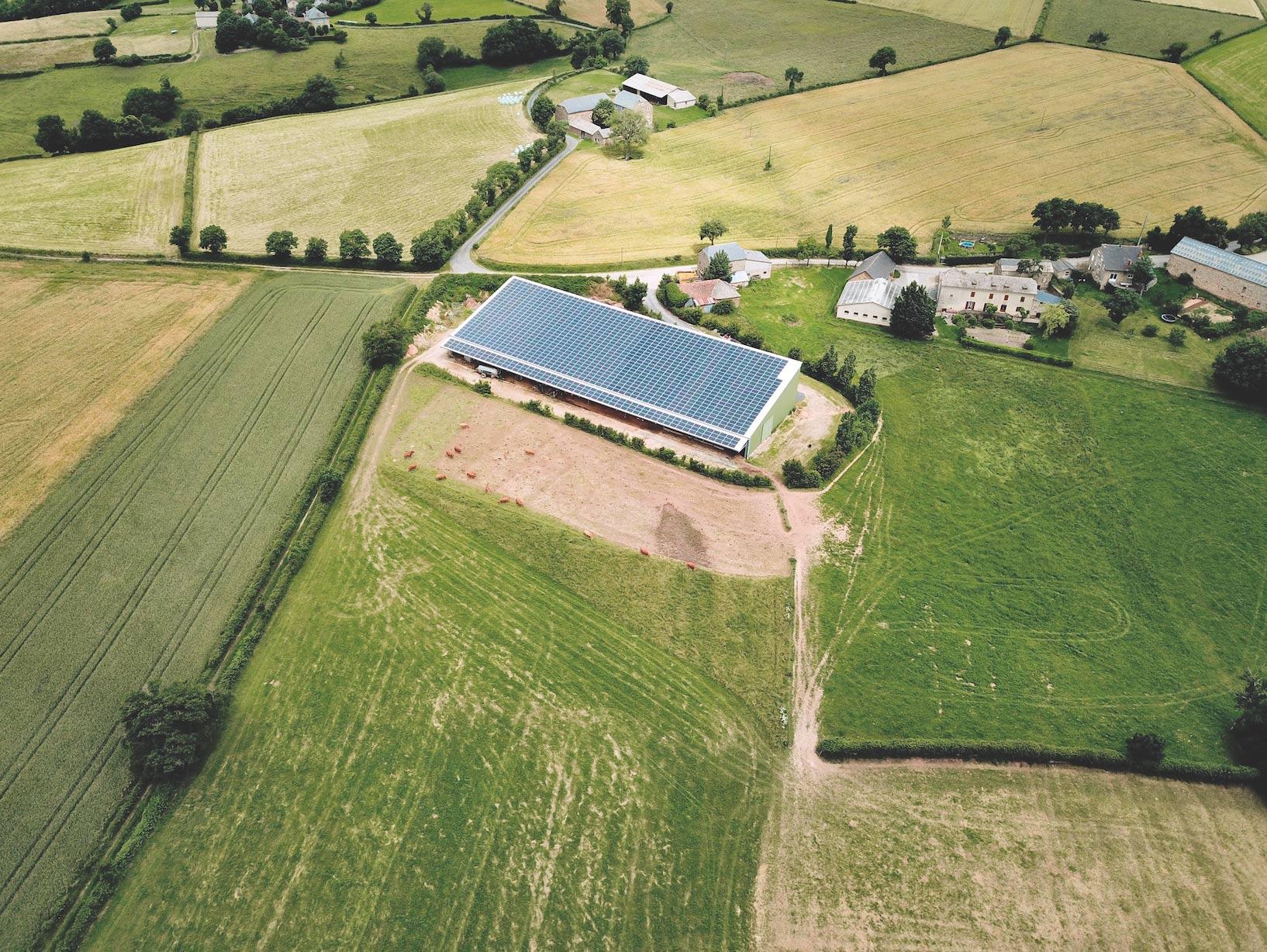 Centrale solaire pour agriculteurs