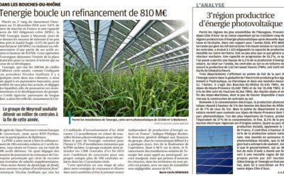 [Revue de presse] La Région Sud, 3ème région productrice d'énergie photovoltaïque