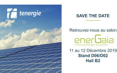Tenergie sera présent au forum Energaïa
